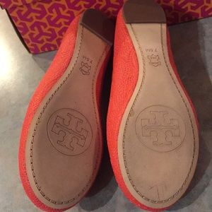 Tory Burch Shoes - Tory Burch new orange leather flats